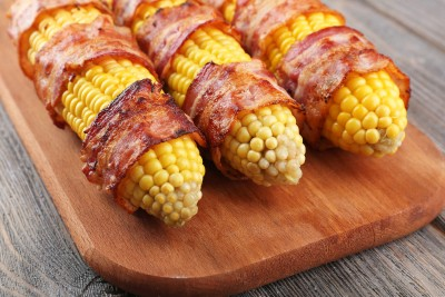 Corn/Bacon Hug with a Chipotle-Honey Kiss